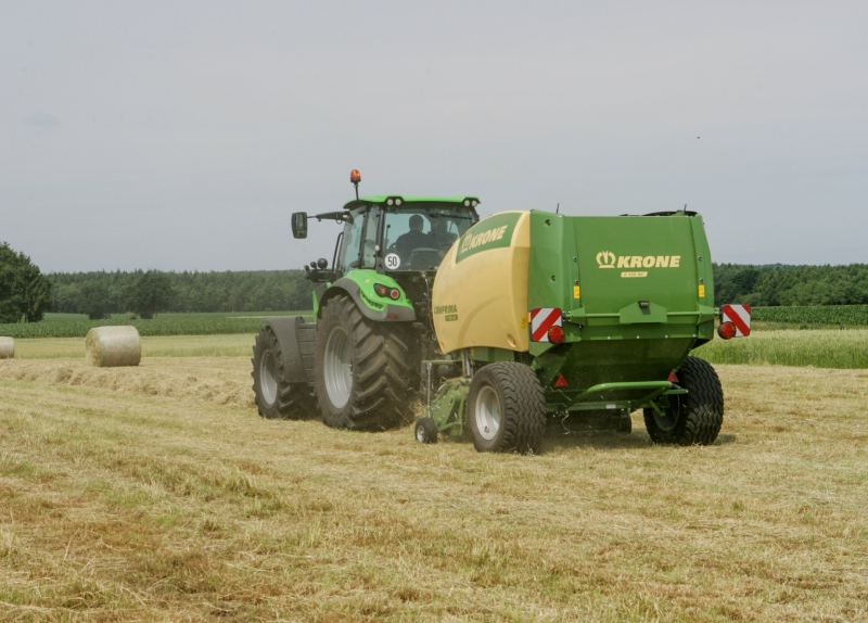 Charity raffle to win a Krone Comprima round baler