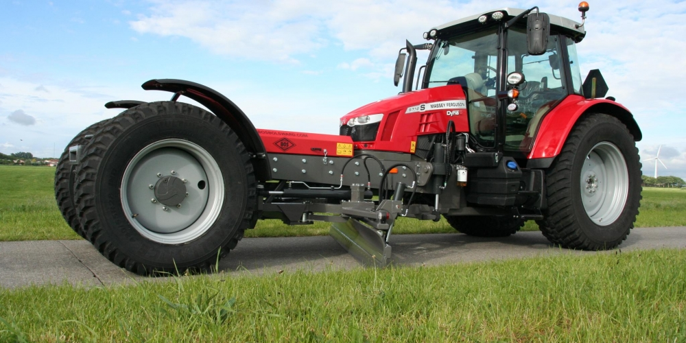Modified Massey Ferguson For Grading Dirt Roads